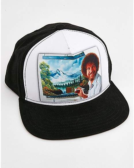 238c2b8f29c36 Bob Ross Snapback Hat - Spencer s