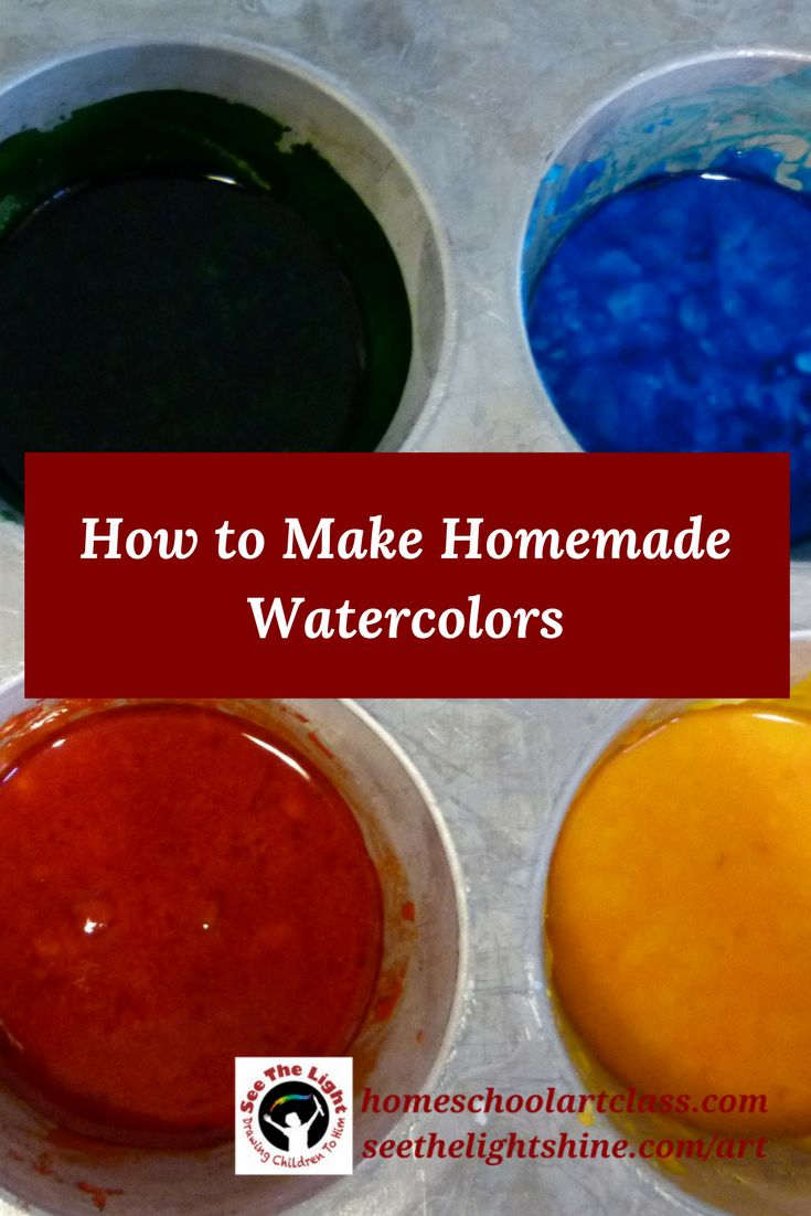 How to Make Homemade Watercolors