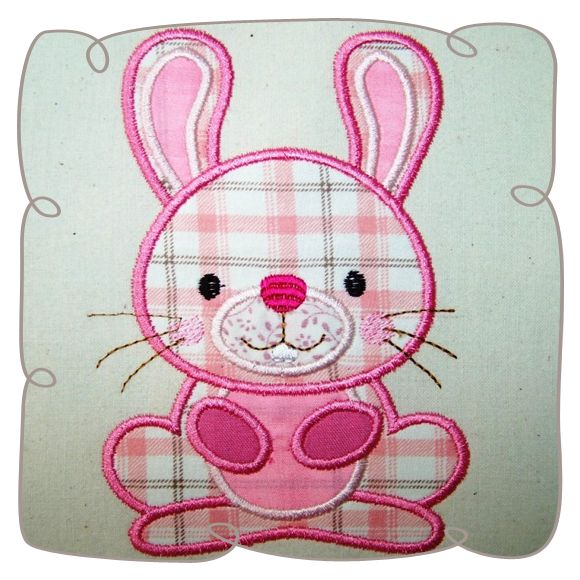 Applique Bunny Critter Machine Embroidery Design