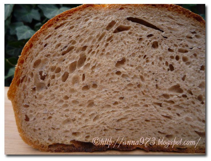 Вообще-то я хотела испечь  хлеб от Мэгги Глезер, в который входят зародыши пшеницы, уже даже закваску на него поставила. А утром обнаружила...