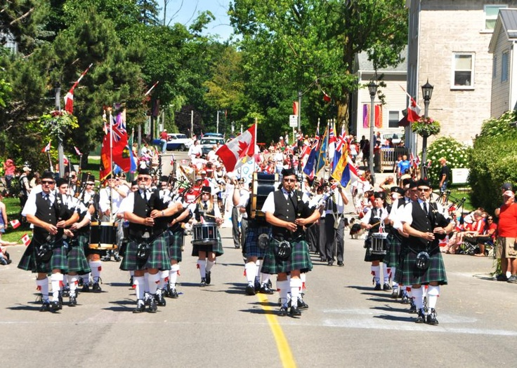 Fergus Pipe Band Celebrates Canada Day. For other musical events and things to do in Ontario: http://www.summerfunguide.ca/04/festivals-events-shows.html #summer #fun #ontario #canadaday #music #bagpipes
