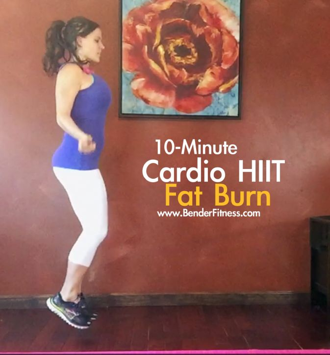 10-Minute: Cardio Fat Burn: Quick Calorie Burn (75-110 Calories Per Round)