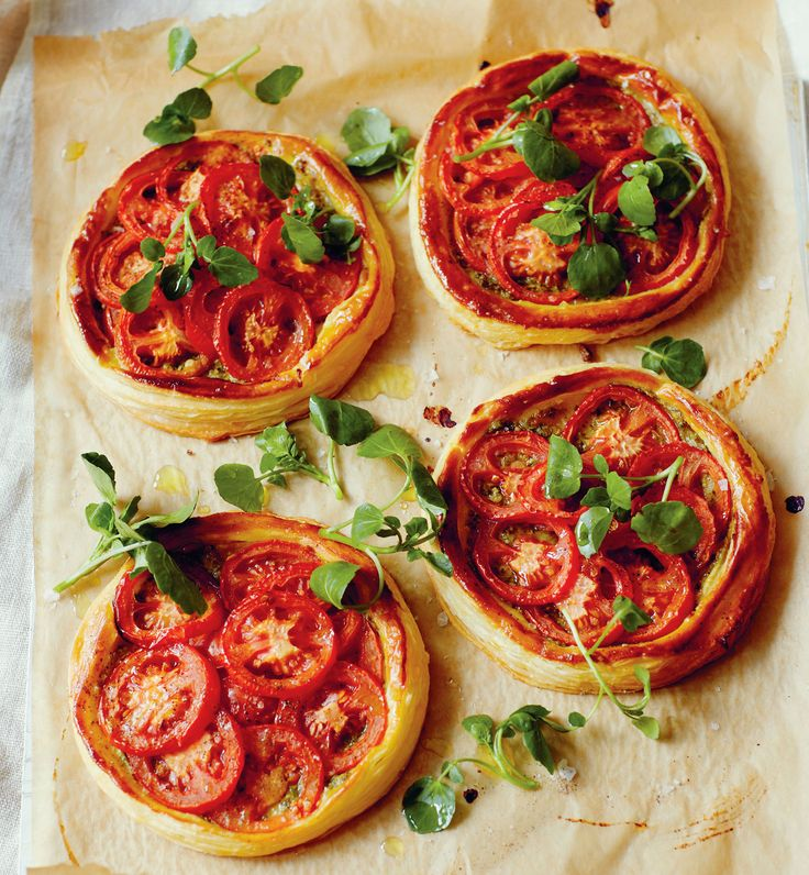 John Torode recipe: Tomato and pesto tarts