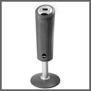 Ceramic Heater Reviews: Lasko 5365 Ceramic Pedestal Heater with Remote Control Simple stand assembly required Widespread oscillation; programmable thermostat; 8-hour timer Low/high quiet-comfort settings, plus auto thermostat-controlled setting Ceramic Heater Reviews: Lasko 5365 Ceramic Pedestal Heater with Remote Control