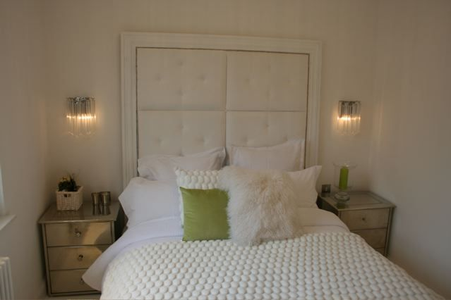 White panelled headboard
