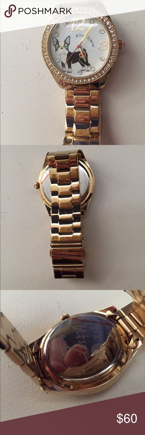 Betsey Johnson Watch Betsey Johnson Bulldog watch. No scratches. Just needs a new battery which is quick fix. Offers considered. Betsey Johnson Jewelry