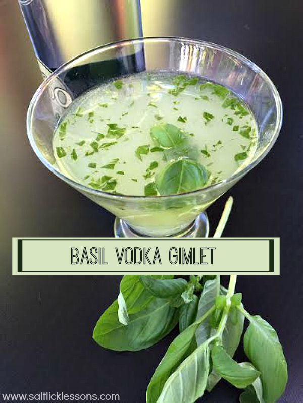 I discovered the Basil Vodka Gimlet at a local Italian restaurant a few years ago. I'd never had one before but I've been sold ever since.