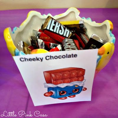 Cheeky Chocolate for a Shopkins Birthday Party on a Budget! #Shopkins #ShopkinsBirthdayParty #CheekyChocolate