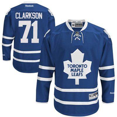 Mens Toronto Maple Leafs David Clarkson Reebok Navy Blue Premier Player Jersey