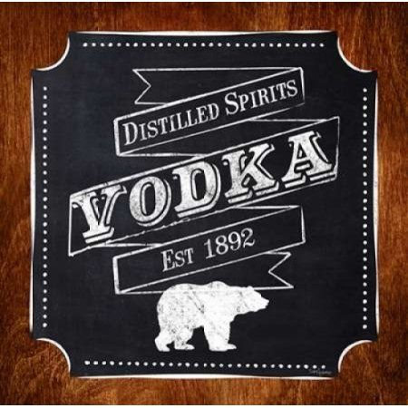 Vodka Drinker Canvas Art - Sam Appleman (24 x 24)