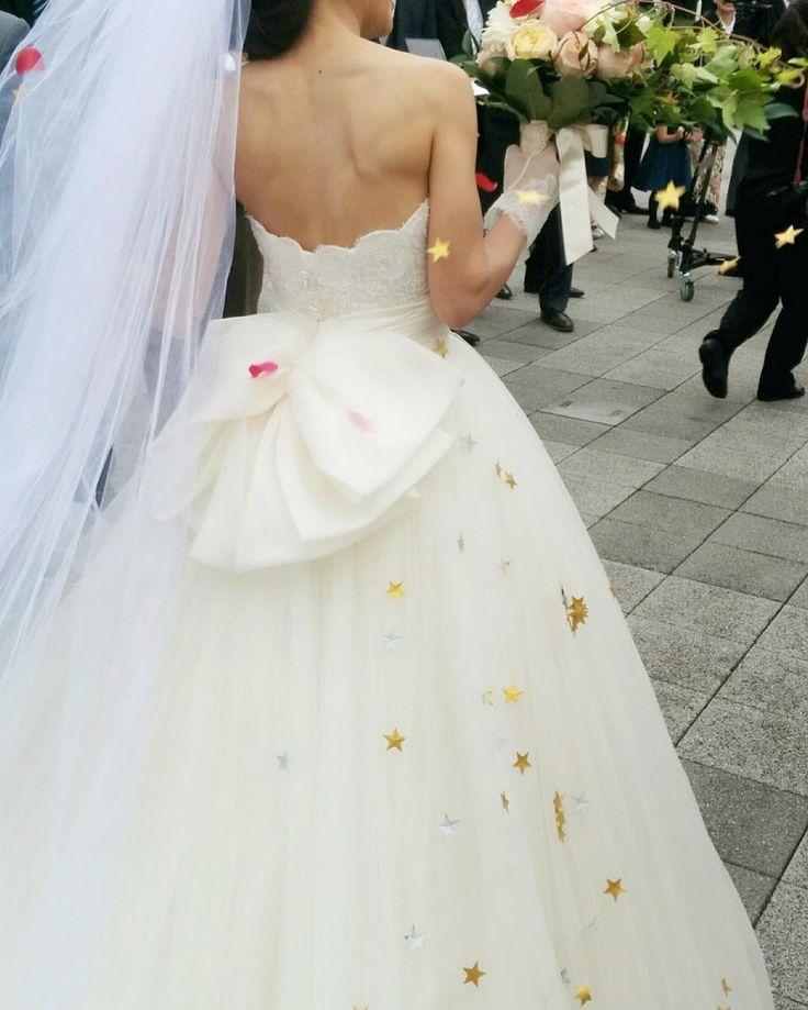 挙式演出のひとつ*スターシャワーが可愛すぎる!   marry[マリー]