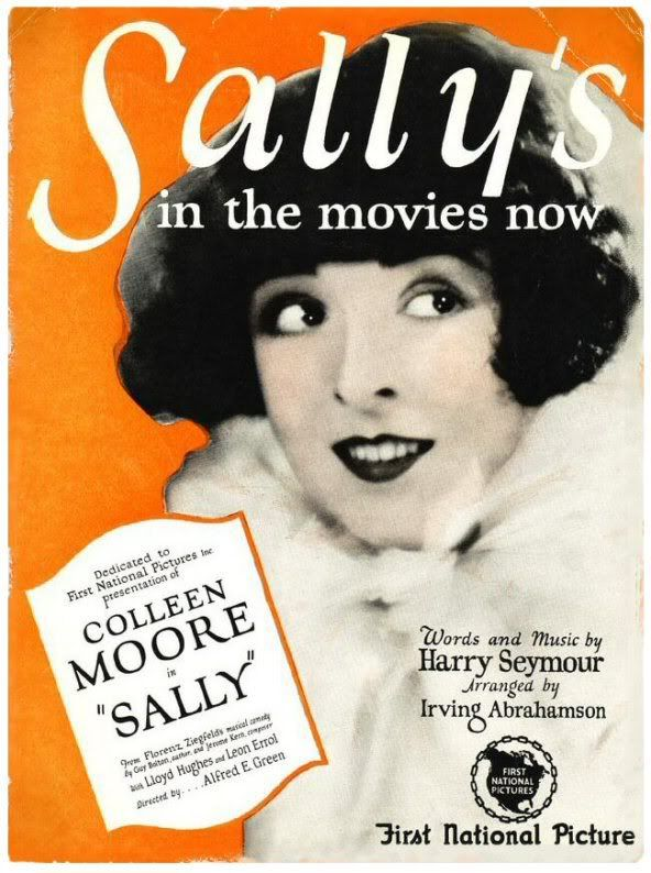 Colleen Moore in Sally sheet music cover