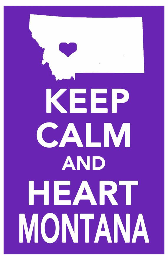 montana keep calm decor print art poster all 50 states in custom background colors 11x17 on Etsy, $14.99