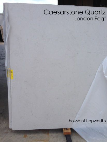 London fog caesarstone quartz with the look of marble for Zodiaq quartz price per square foot