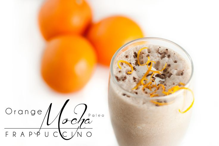 In honor of Zoolander 2: Zoolander Paleo Orange Mocha Frappuccino - quick, easy and yummy!