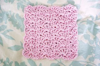 Alli Crafts: Free Pattern: Baby Washcloths. Fun quick stitch to make.