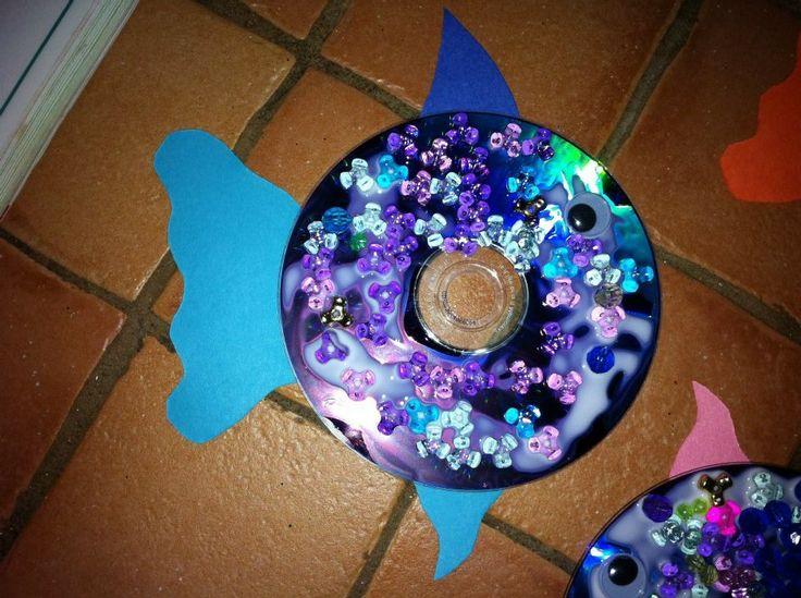 Poisson cd arc en ciel bricolage enfants pinterest - Poisson en maternelle ...