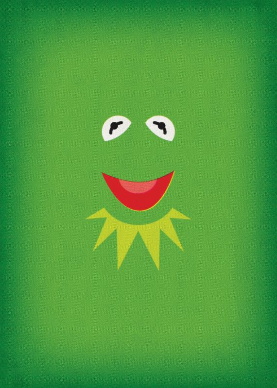 The Muppet Show Kermit the Frog Minimalist Poster by TheRetroInc