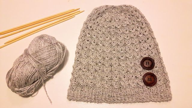 A faux cable pattern beanie
