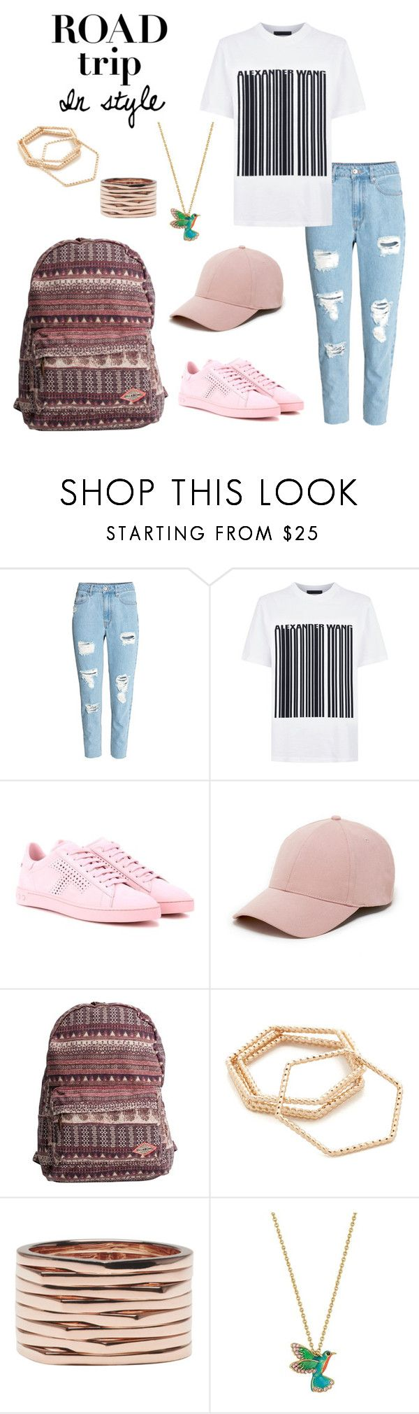 """""""Road Trip in Style"""" by windrasiregar on Polyvore featuring Alexander Wang, Tod's, Sole Society, Billabong, Shashi, Repossi and Kate Spade"""