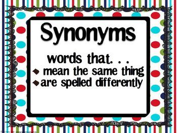 243 best images about Synonyms on Pinterest | Anchor charts ...