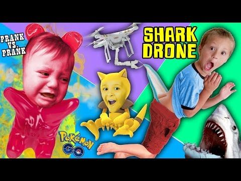 SHARK DRONE & DOUBLE WEDGIE! Spicy Prank vs. Prank Kids (FUNnel Vision Myrtle Beach POKEMON GO Vlog) - YouTube