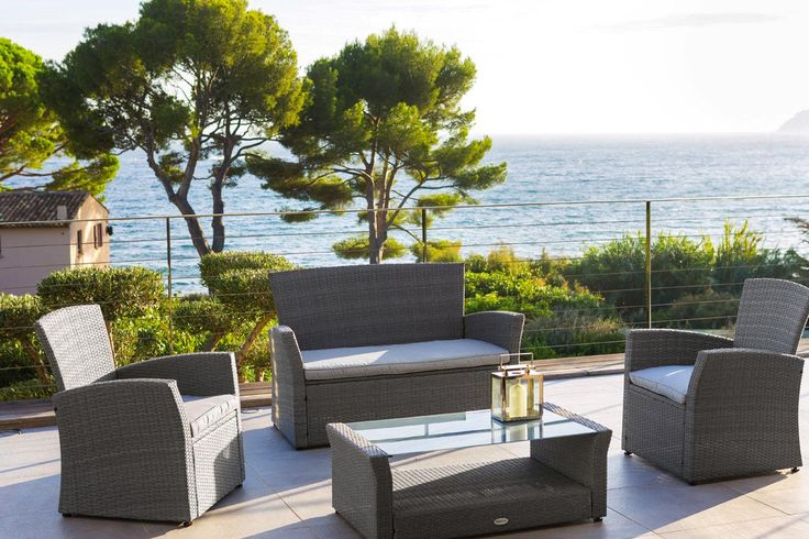 #Hespéride - Salon de jardin Bora Bora - 299 € - Laissez vous tenter par notre salon de jardin BORA BORA, en résine tressée grise ! http://www.hesperide.com/salon-de-jardin/salon-de-jardin/salon-4-5-places/salon-de-jardin-bora-bora-gris/66543.html?cmpid=pinterest&utm_source=pinterest.com&utm_medium=referral&utm_campaign=pont_salon_20150409