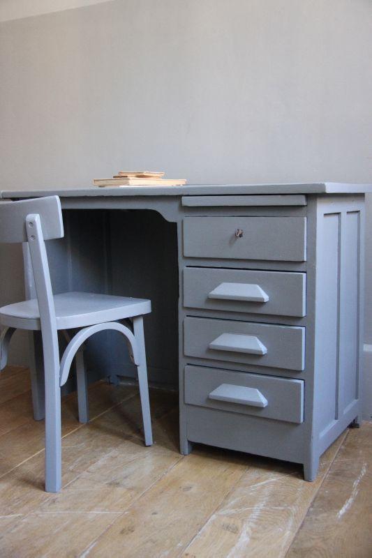 petite belette meubles vintage revisit s bureau de comptable wooden day pinterest. Black Bedroom Furniture Sets. Home Design Ideas