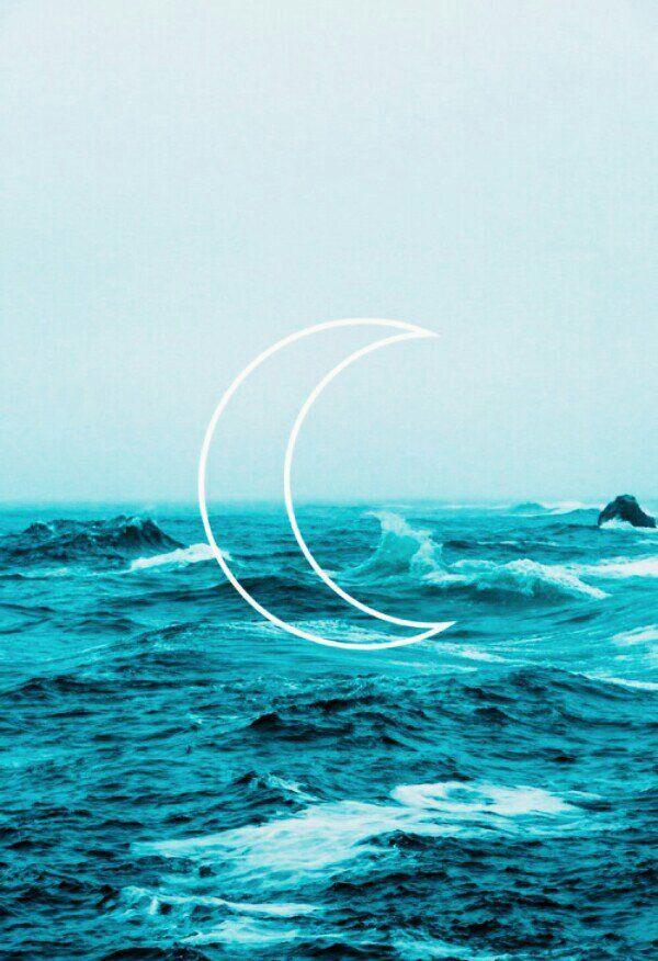 Ocean Crescent Waves Wallpaper Ocean Wallpaper Wallpaper Backgrounds