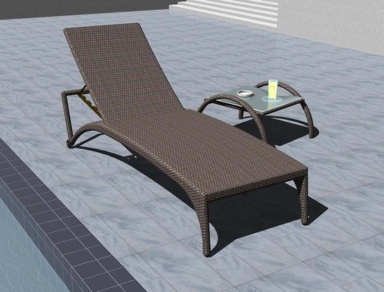 LUZON Chaise Lounge and BICOL Side Table