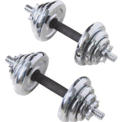 Deluxe Quality 20kg Chrome Spinlock Dumbbell Set With Knurled Rubber Grips For Comfort & Better Grip (0.5kg (x4): 1.25kg (x4): 2.5kg (x4)) Chrome Dumbbell Set http://www.amazon.co.uk/dp/B0165Y1NMS/ref=cm_sw_r_pi_dp_T0KWwb1YQVHQW