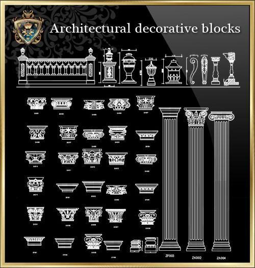 Royal Architecture Decorative Blocks