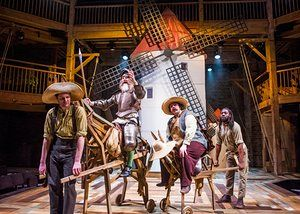 Theo Fraser Steele, David Threlfall, Rufus Hound and Natey Jones in Don Quixote