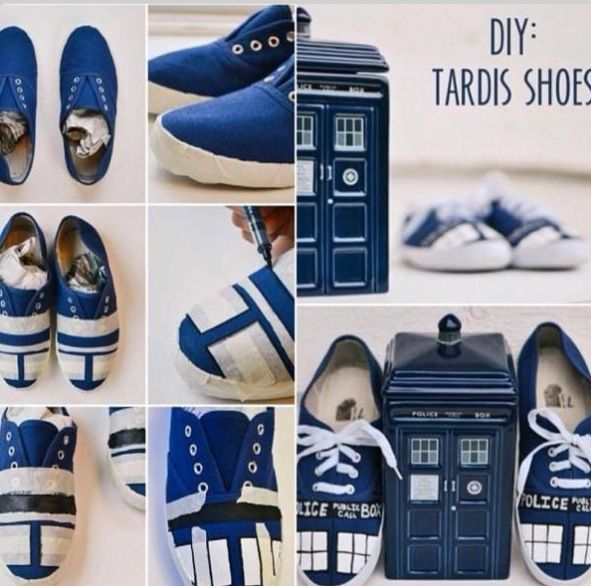 DIY dr. Who shoes... I so doing this!