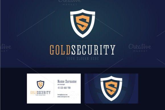 Gold security logo. Logo Templates. $9.00