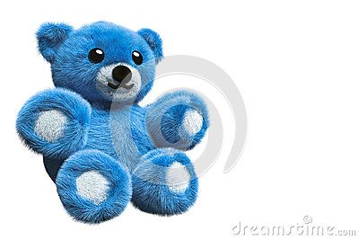 3D Illustration Of A Blue Furry Teddy Bear - Download From Over 61 Million High Quality Stock Photos, Images, Vectors. Sign up for FREE today. Image: 95269197