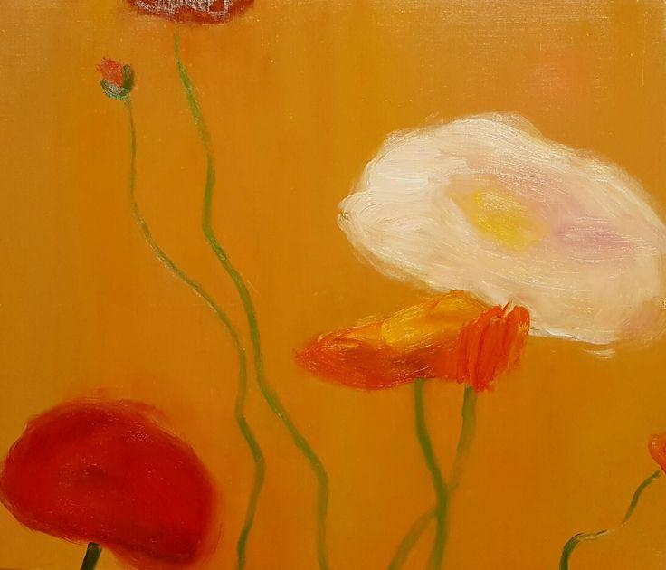 Poppy 53 x 43 (cm) oil on canvas 2017