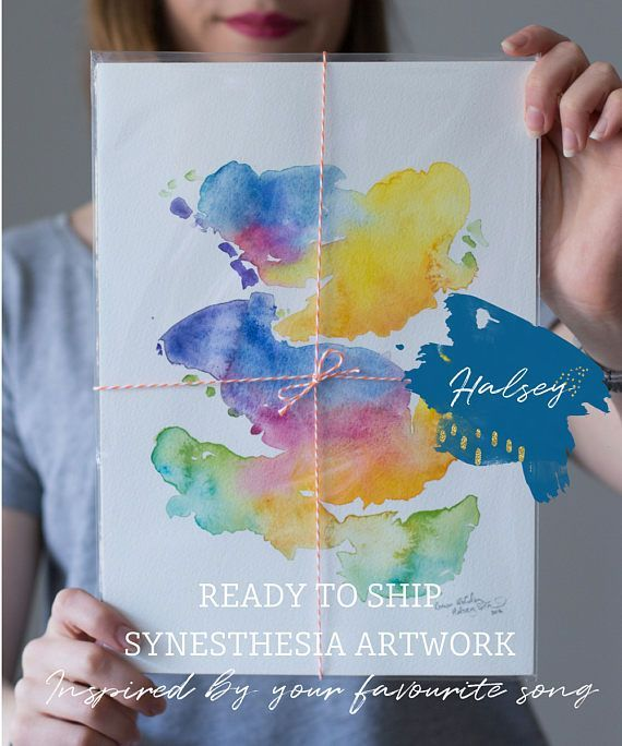 Halsey music inspired synesthesia painting best friend