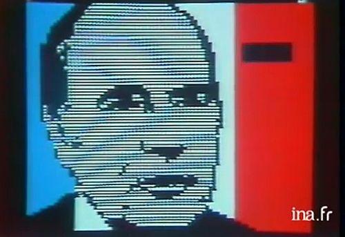 1981 : Mitterrand apparaît sur les écrans , c'est moderne!
