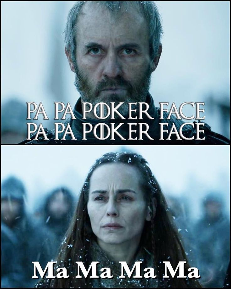 Stannis Baratheon and his wife, Game of Thrones, pokerface