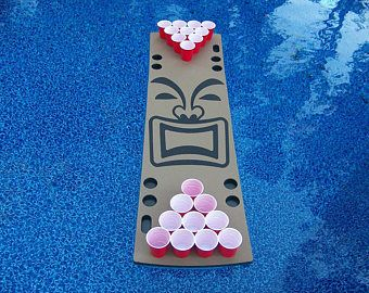 Tiki Guy Foam Floating Beer Pong Table, 6ft, Foam, Birthday, Tailgate, Bachelor Party Gift for Men, Husband, Boyfriend, Father, Son