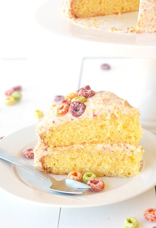 Ingredients Cake 1 cup of milk 1 cup of Fruit Loops 250 grams (1 cup + 1 tablespoon) unsalted butter, room temperature 1 cup caster sugar 2 teaspoons vanilla extract 3 large eggs 2 and 1/4 cups plain flour 3 teaspoons baking powder Frosting 1/2 cup milk 1 and 1/2 cups Fruit Loops 115 grams (1/2 cup or 1 stick) unsalted butter, room temperature 2 teaspoons vanilla extract 4 cups icing sugar  In a small bowl, add the milk and the Fruit Loops, give it a stir and set aside. Grease and line two…