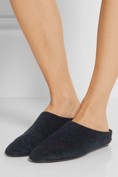 The Row - Bea Cashmere Slippers - Midnight blue - IT40