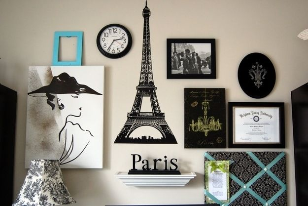 Skip frames and create a gallery wall around a theme | 32 Creative Gallery Wall Ideas To Transform Any Room