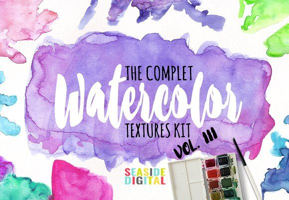 Watercolor Textures - Vol. III by Seaside Digital on @creativemarket