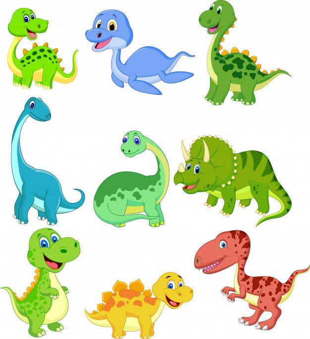 Cartoon Dinosaurs Collection Set Premium Vector Freepik Vector Baby Icon Character Cartoon Dinosaur Images Dinosaur Illustration Cartoon Dinosaur