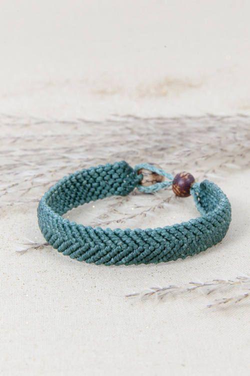 Macrame pulsera joyería hecha a mano