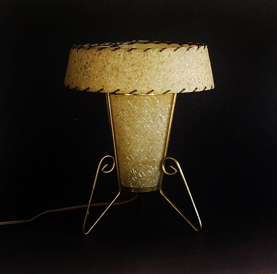 Mid Century L& with Atomic Double Fibergalss L& Shade - Fiberglass Drum Shade Retro Table L& Danish Modern L&s and Lighting & Best 25+ Retro table lamps ideas on Pinterest   Commercial ... azcodes.com