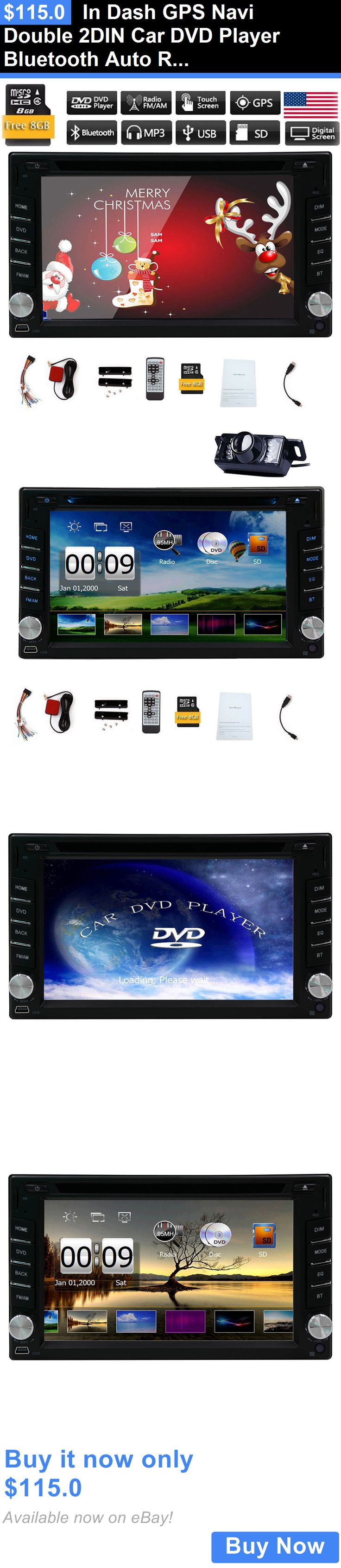 Vehicle Electronics And GPS: In Dash Gps Navi Double 2Din Car Dvd Player Bluetooth Auto Radio Stereo Usb Mp3 BUY IT NOW ONLY: $115.0