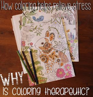 Healing Hope: Coloring How coloring helps relieve stress. Why is coloring therapeutic?